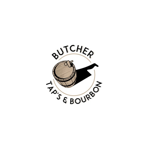 Logo for a restaurant that has a Meat department in it