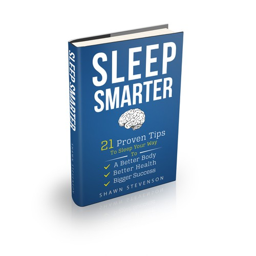 Create a cover for an entertaining book about sleep
