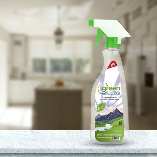 All purpose cleaner with mountain breeze scent