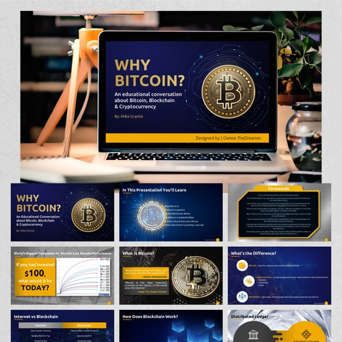 PowerPoint Redesign Created for a Bitcoin Project.