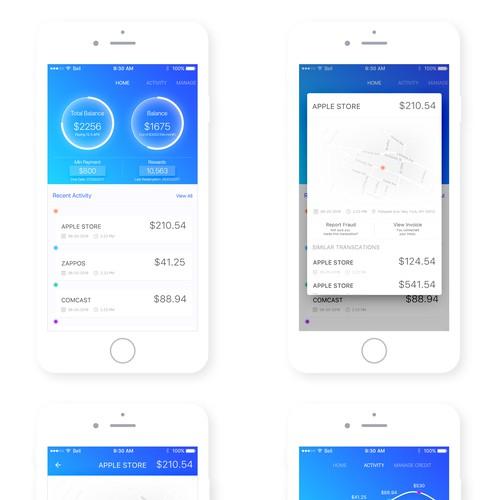 Credit App UI dessign concept