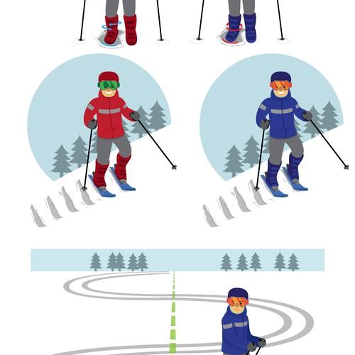 Design illustration for skiibooks