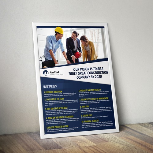 Poster for a Construction Company