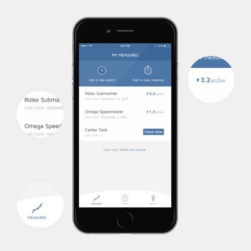 Watch Measurements App Design