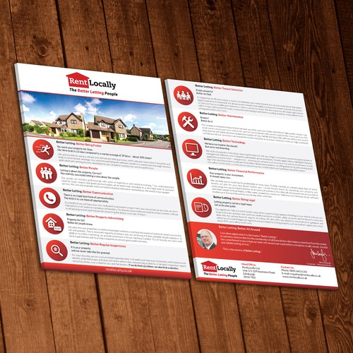 Rent Locally Flyer Design