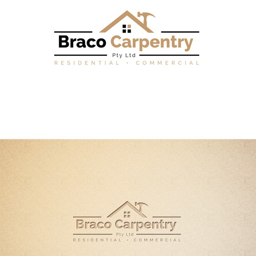 Wordmark logo design for carpentry