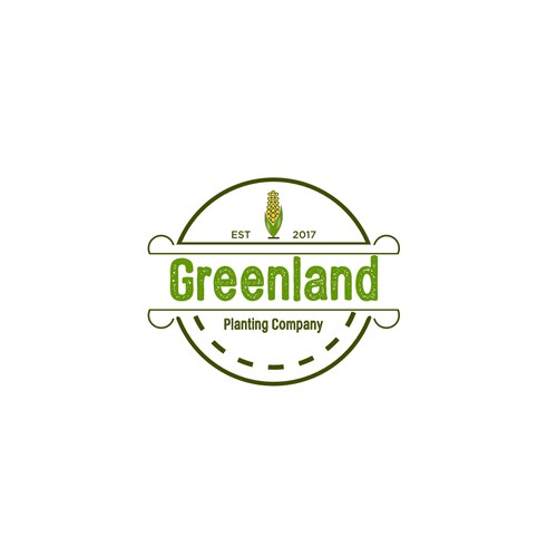 Greenland Planting Co corporate identity and logo
