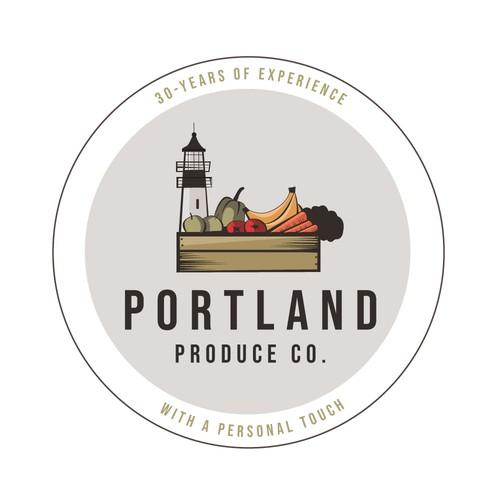 Logo - Portland produce co.