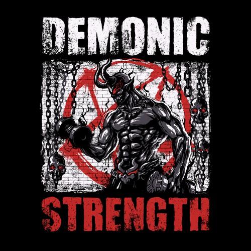 Demonic Strength T-Shirt Design