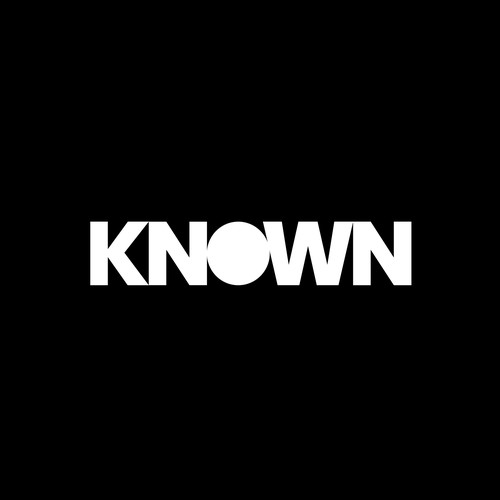 Bold logo design for KNOWN.