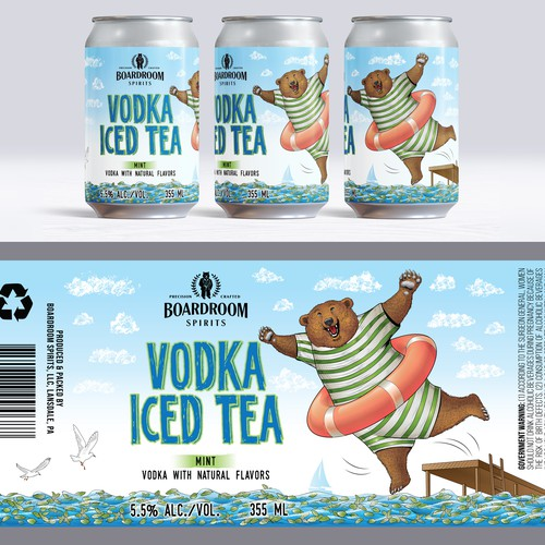 Canned cocktail label, Mint