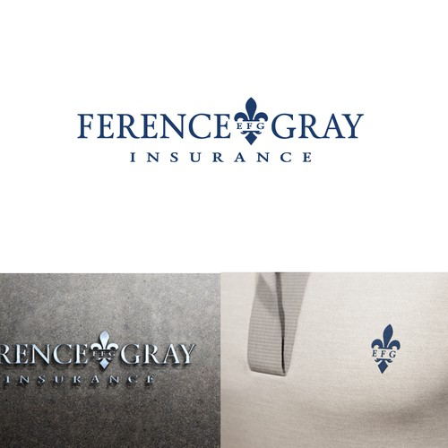 Create the next logo and business card for Ference-Gray Insurance
