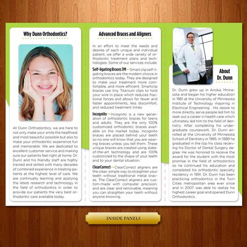 brochure design for Dunn Orthodontics too!