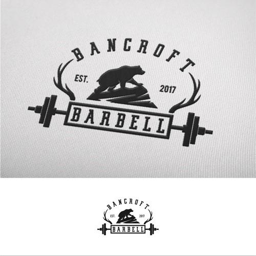 vintage logo concept for bancroft barbell