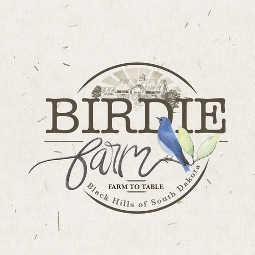 vintage logo for Birdie Farm