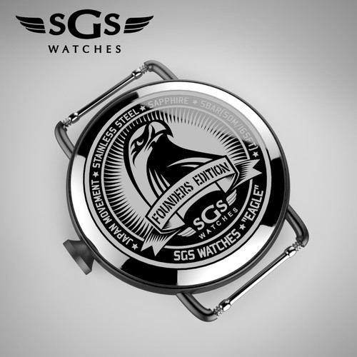 SGS Watches back plate engravement