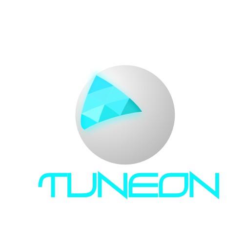 Futuristic logo for consumer electronics