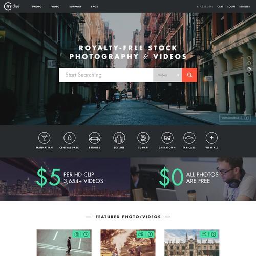 Designer for the Next Big Stock Video/Photo Site