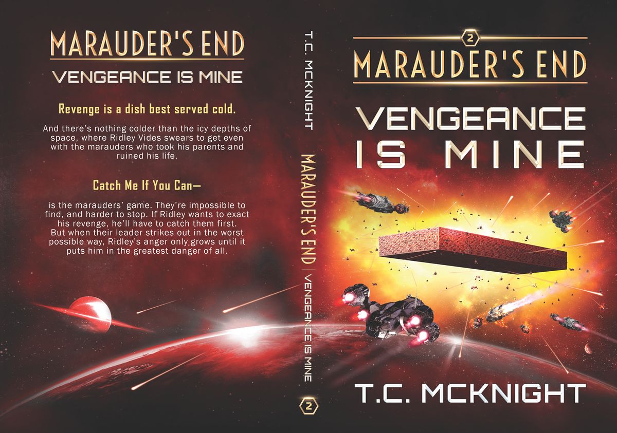 Covers for 3 novels in a space opera trilogy.