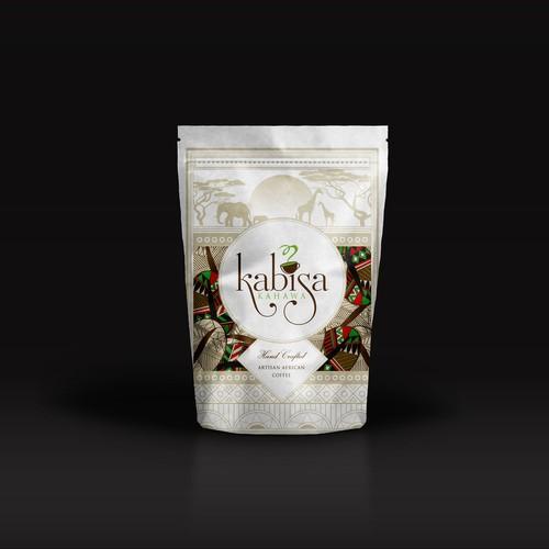 African Coffee Roaster packaging design