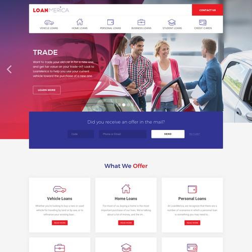 LoanMerica Website Design Concept