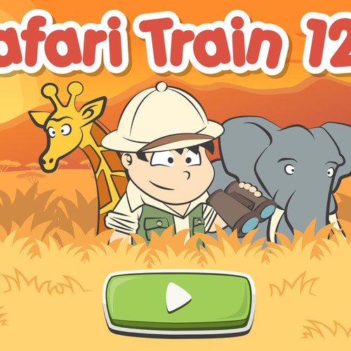 Safari Train 123 game main screen