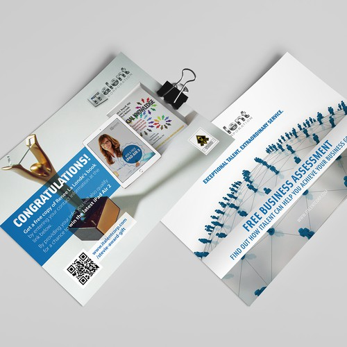 Flyer design for talent company