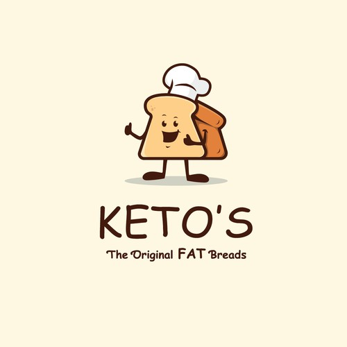 """Help  Designing A Funny Logo For What We Hope becomes the """"halo top"""" of keto breads"""