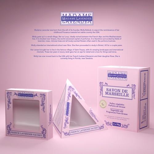 Packaging Design for Madame Lavender