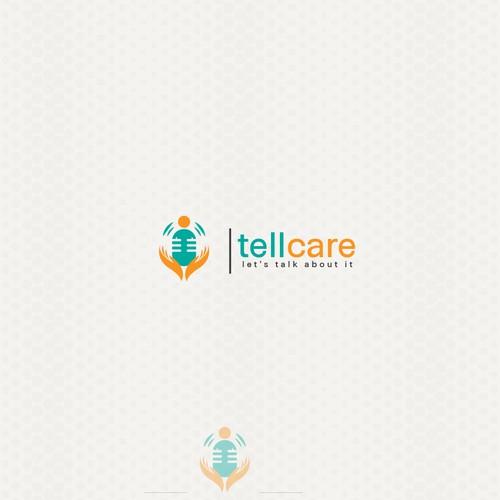 Modern logo for tellcare
