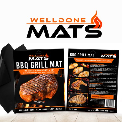 Grilling Mat Packaging design