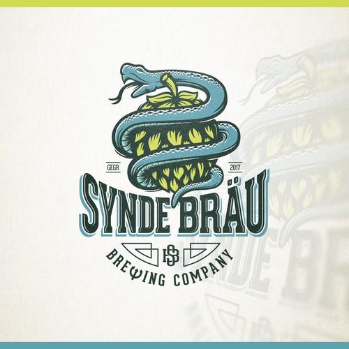 Creative logo for Synde Bräu - Sin Brew