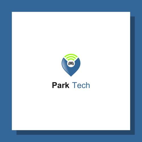 modern logo for ParkTech