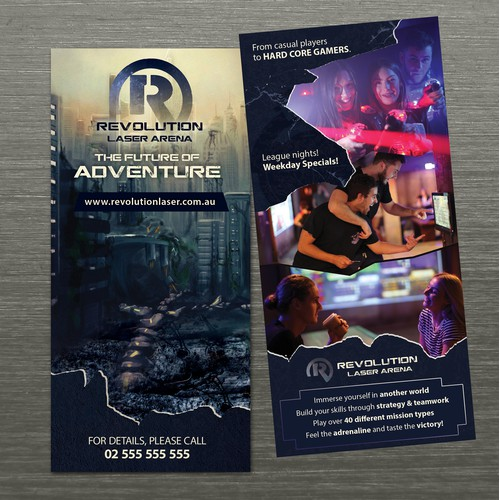Front & back flyer for laser tag place