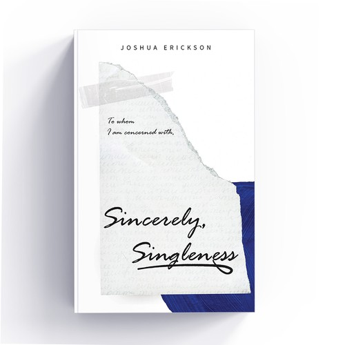 Cover book design - Sincerely, Singleness