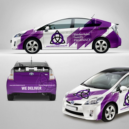 timberlake pharmacy car wrap design