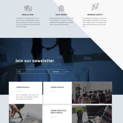 ConstructSecure Website Design