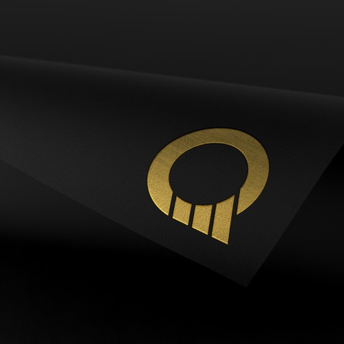 Bold and modern style logo for quantum