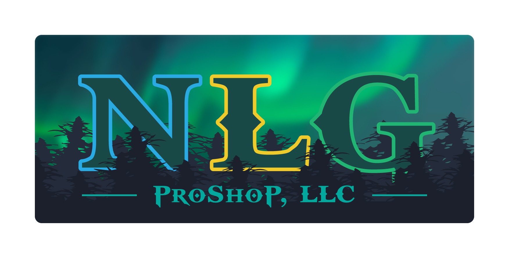 NLG Pro Shop Logo and Seal Design