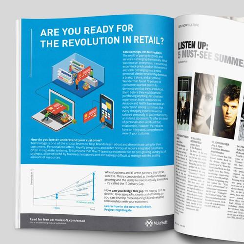 Advertorial for Retailweek Magazine