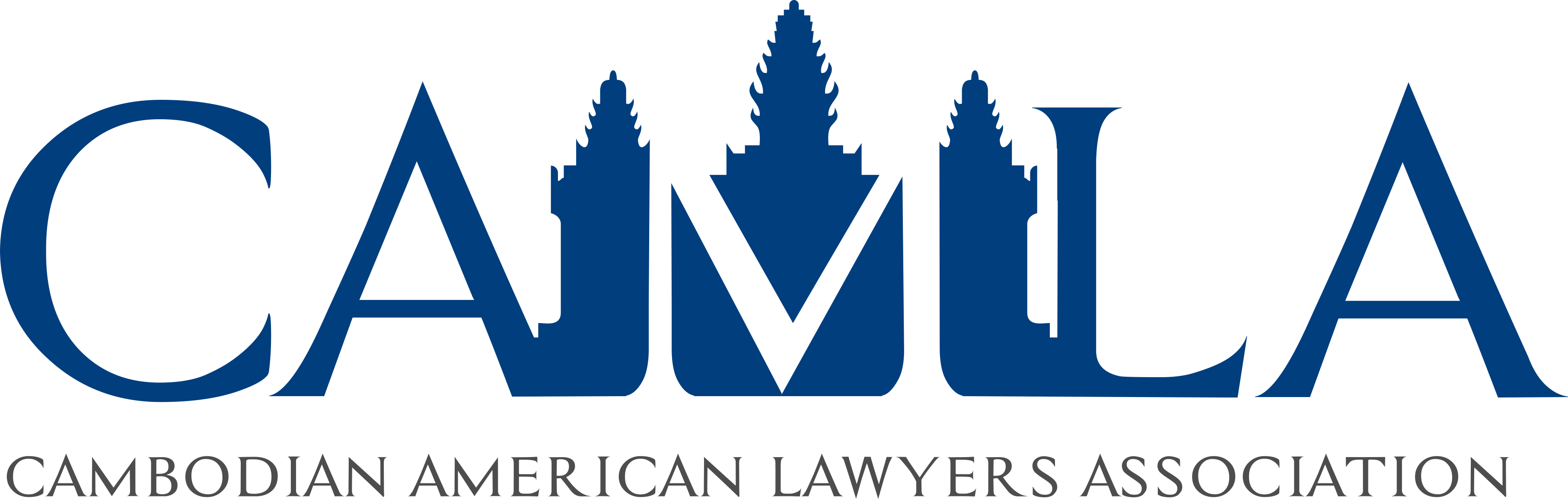Cambodian American Lawyers Assoc needs sophisticated & clean logo w/ Angkor Wat & scales of justice