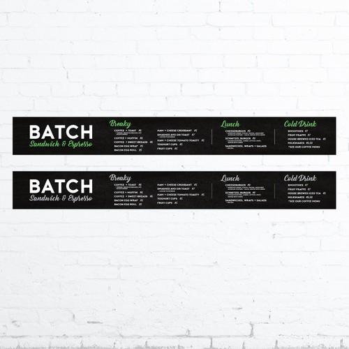 Menu Board Concept for Australian Cafe