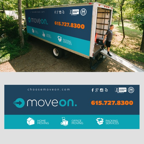 Truck Wrap for MOVEON.