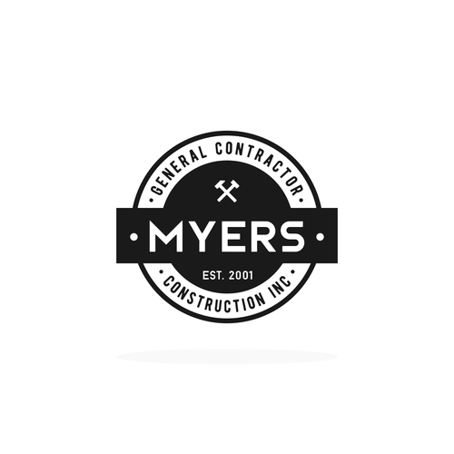 Badge Logo Concept for Construction Company