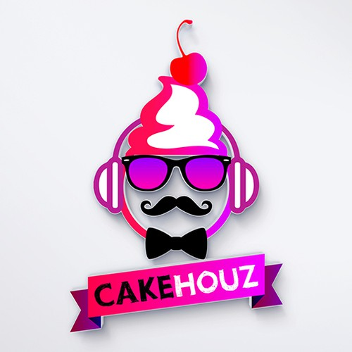 Funky, Fun, Colorful, Hipster, Cool logo and website for CakeHouz