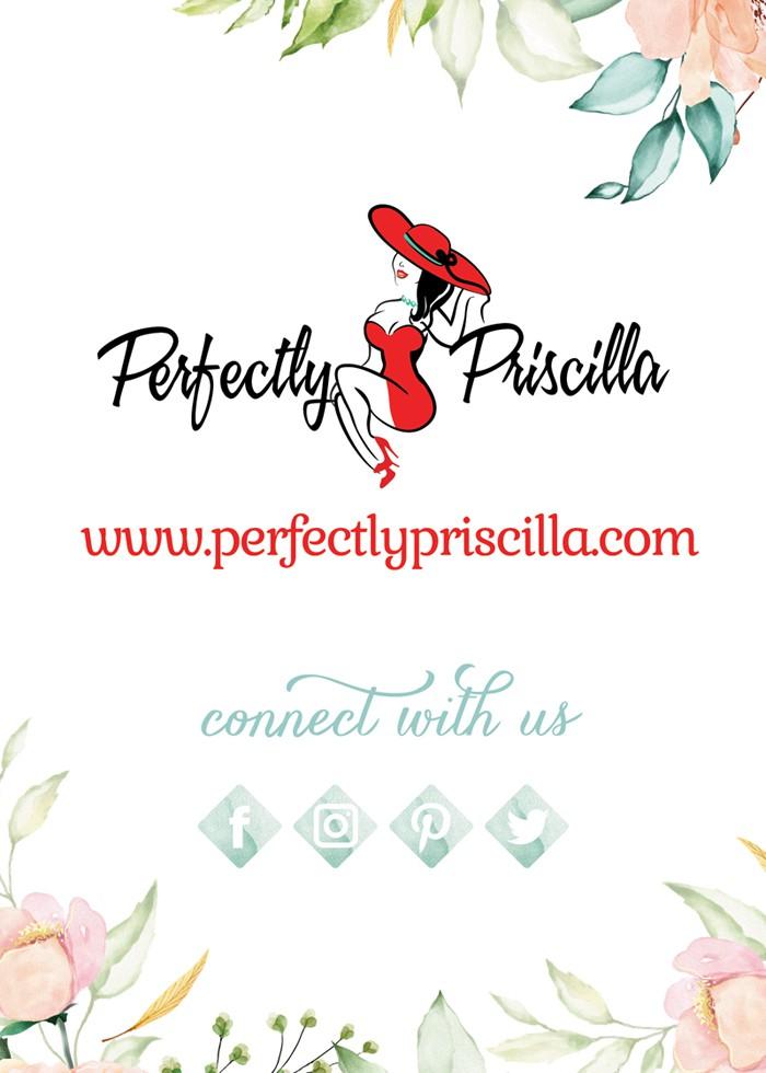 Design a Post Purchase Marketing Insert for Perfectly Priscilla