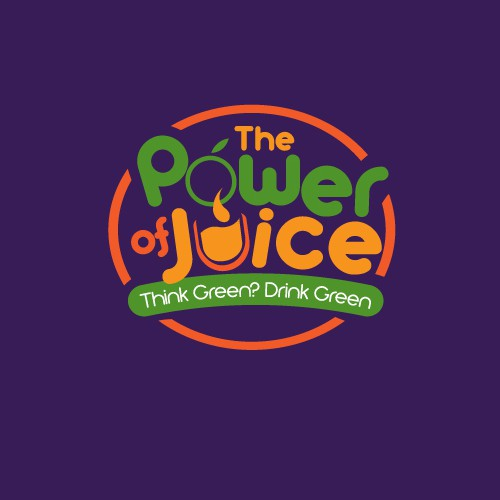 Create a powerful eye-grabbing organic juice logo
