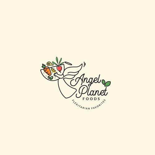 vegetarian cuisine logo concept