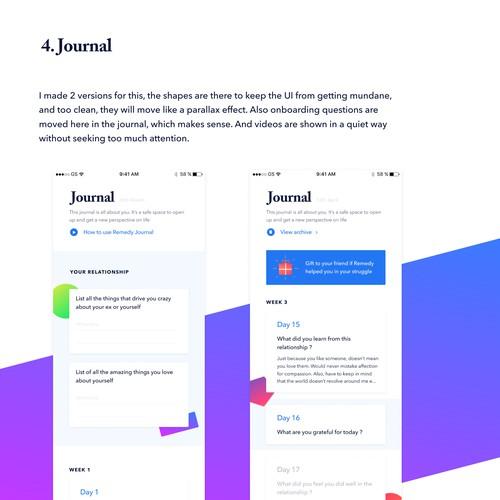 App design concept for Remedy