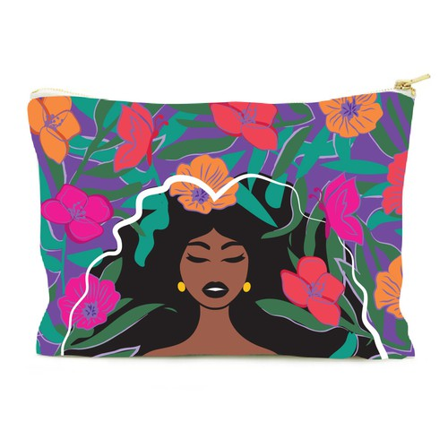 Black Culture inspired clutch purse design